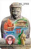 Interlitho, Luis, FANTASY, paintings, buddha, asian symbols, KL, KL3783,#fantasy# illustrations, pinturas