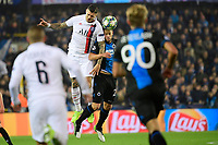 Mats Rits midfielder of Club Brugge battles for the ball with Mauro Icardi forward of PSG  <br /> Bruges 22-10-2019 <br /> Club Brugge - Paris Saint Germain PSG <br /> Champions League 2019/2020<br /> Foto Panoramic / Insidefoto <br /> Italy Only