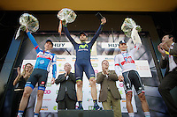 podium:<br /> 1/ Alejandro Valverde (ESP/Movistar)<br /> 2/ Daniel Martin (IRL/Garmin-Sharp)<br /> 3/ Michal Kwiatkowski (POL/OPQS)<br /> <br /> La Flèche Wallonne 2014
