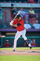 Erie SeaWolves Daniel Pinero (34) at bat during an Eastern League game against the Richmond Flying Squirrels on August 28, 2019 at UPMC Park in Erie, Pennsylvania.  Richmond defeated Erie 6-4 in the first game of a doubleheader.  (Mike Janes/Four Seam Images)