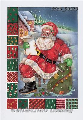 Michele, CHRISTMAS SANTA, SNOWMAN, paintings(ITCD59628,#X#) Weihnachtsmänner, Schneemänner, Weihnachen, Papá Noel, muñecos de nieve, Navidad, illustrations, pinturas