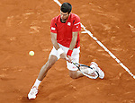 Novak Djokovic, Serbia, during Madrid Open Tennis 2016 Semifinal match.May, 7, 2016.(ALTERPHOTOS/Acero)a