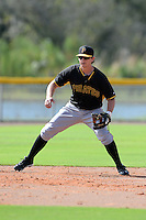 Pittsburgh Pirates third baseman Daniel Gamache (5) during practice before an Instructional League game against the Tampa Bay Rays on September 27, 2014 at the Charlotte Sports Park in Port Charlotte, Florida.  (Mike Janes/Four Seam Images)