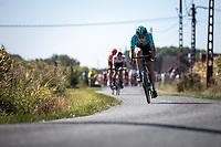 Guillaume Seye (BEL/Beat Cycling Club) try!ng to force the break away<br /> <br /> 104th Kampioenschap van Vlaanderen 2019<br /> One Day Race: Koolskamp > Koolskamp 186km (UCI 1.1)<br /> ©kramon