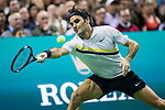 March 05, 2018: Roger Federer (SUI) defeated Jack Sock (USA) 7-6 (9), 6-4 at The Match for Africa 5 Silicon Valley played at the SAP Center in San Jose, California. ©Mal Taam/TennisClix