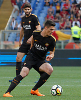 Roma s Patrik Schick in action during the Italian Serie A football match between Roma and Chievo Verona at Rome's Olympic stadium, 28 April 2018.<br /> UPDATE IMAGES PRESS/Riccardo De Luca