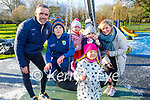 Donal, Muireann, Harry, Amelie, Freya and Indie Rooney enjoying the town park playground in Tralee on New Years Eve.