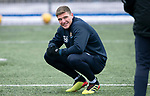 St Johnstone Training….29.01.19    McDiarmid Park<br />Ross Callachan pictured during training ahead of tomorrow's game at Celtic<br />Picture by Graeme Hart.<br />Copyright Perthshire Picture Agency<br />Tel: 01738 623350  Mobile: 07990 594431