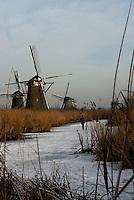 Windmolens omgeving Kinderdijk