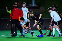 Action from the boys' premier one Wellington Hockey match between Wellington College and Kapiti College at National Hockey Stadium in Wellington, New Zealand on Friday, 7 August 2020. Photo: Dave Lintott / lintottphoto.co.nz