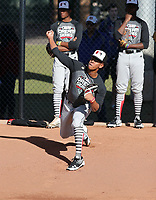 Sanson Trey Faltine participates in the 2019 MLB Dream Series on January 18-21, 2019 at the Los Angeles Angels training complex in Tempe, Arizona (Bill Mitchell)