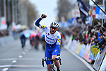 Kasper Asgreen (DEN) Deceuninck-Quick Step wins Kuurne-Brussel-Kuurne 2020, Belgium. 1st March 2020.<br /> Picture: Serge Waldbillig/cyclingpix.lu | Cyclefile<br /> <br /> All photos usage must carry mandatory copyright credit (© Cyclefile | cyclingpix.lu/Serge Waldbillig)