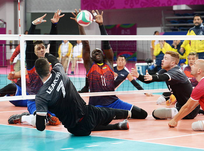 Doug Learoyd and Bryce Foster, Lima 2019 - Sitting Volleyball // Volleyball assis.<br /> Canada competes in men's Sitting Volleyball // Canada participe au volleyball assis masculin. 24/08/2019.
