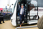 St Johnstone v Dundee United....17.05.14   William Hill Scottish Cup Final<br /> Tommy Wright steps off the coach as it arrives at Celtic Park<br /> Picture by Graeme Hart.<br /> Copyright Perthshire Picture Agency<br /> Tel: 01738 623350  Mobile: 07990 594431