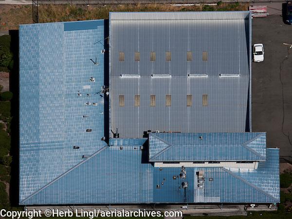 aerial photograph metal roof Petaluma Municipal Airport, California