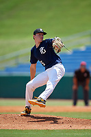 Miles Langhorne (25) of Greenwich High School in Greenwich, CT during the Perfect Game National Showcase at Hoover Metropolitan Stadium on June 19, 2020 in Hoover, Alabama. (Mike Janes/Four Seam Images)