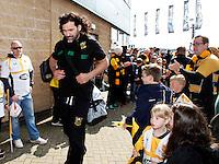 Photo: Richard Lane/Richard Lane Photography. Wasps v Northampton Saints. Aviva Premiership. 03/04/2016. Saints' Victor Matfield.