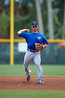 Toronto Blue Jays Carl Wise (2) during a minor league Spring Training game against the Pittsburgh Pirates on March 24, 2016 at Pirate City in Bradenton, Florida.  (Mike Janes/Four Seam Images)