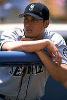 Freddy Garcia of the Seattle Mariners during a 2000 season MLB game at Angel Stadium in Anaheim, California. (Larry Goren/Four Seam Images)