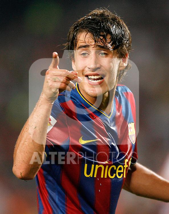 FC Barcelona's Bojan Krkic during  La Liga match.August 31 2009. (ALTERPHOTOS/Acero).