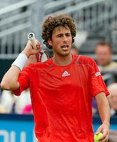 13-06-10, Tennis, Rosmalen, Unicef Open, Robin Haase uit zijn frustratie