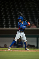 AZL Rangers infielder Jayce Easley (71) at bat during an Arizona League game against the AZL Cubs 2 at Sloan Park on July 7, 2018 in Mesa, Arizona. AZL Rangers defeated AZL Cubs 2 11-2. (Zachary Lucy/Four Seam Images)