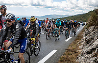 Yellow Jersey Julian Alaphilippe (FRA/Deceuninck Quick Step)  in the peloton up the Col de la Faye<br /> <br /> 107th Tour de France 2020 (2.UWT)<br /> (the 'postponed edition' held in september)<br /> Stage 3 from Nice to Sisteron 198km<br /> ©kramon