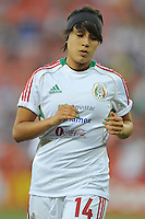 Faviola Ibbarra (14) of Mexico during pre-game warmups. The USWNT defeated Mexico 7-0 during an international friendly, at RFK Stadium, Tuesday September 3 , 2013.