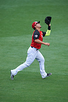 Team USA outfielder Michael Conforto (8) catches a fly ball during the MLB All-Star Futures Game on July 12, 2015 at Great American Ball Park in Cincinnati, Ohio.  (Mike Janes/Four Seam Images)