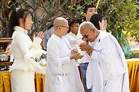 Celebrations du jour de Meak Bochea (dernier discour de Bouddha), <br /> Fevrier 2020,<br /> Phnom Penh, Cambodge