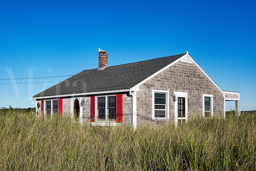 Waterfront rental cottage, Truro, Cape Cod, Massachusetts, USA