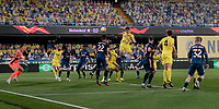 29th April 2021; Ceramica Stadium, Villareal, Spain; EUropa League semi-final football, Villareal CF versus Arsenal;  Raúl Albiol Tortajada of Villarreal CF scores his goal during the UEFA Europa League match