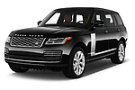 2019 Land Rover Range Rover Autobiography 5 Door SUV angular front stock photos of front three quarter view