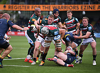 29th May 2021; Sixways Stadium, Worcester, Worcestershire, England; Premiership Rugby, Worcester Warriors versus Leicester Tigers; Tomás Lavanini of Leicester Tigers drives for the line