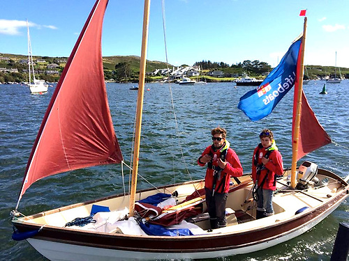 The Ogden brothers return to Baltimore after circling Ireland in their Drascombe Lugger in 2015.