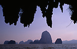Karst Islands, Andaman Sea, Ao Phang Nga National park, Thailand