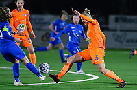 Ella Van Kerkhoven (3) of AA Gent pictured in action during a female soccer game between  Racing Genk Ladies and AA Gent Ladies on the eleventh matchday of the 2020 - 2021 season of Belgian Scooore Womens Super League , friday 22 th of January 2021  in Genk , Belgium . PHOTO SPORTPIX.BE | SPP | DAVID CATRY