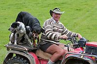 A Musterer (Shepherd) near Masterton, Wairarapa region, north island, New Zealand.