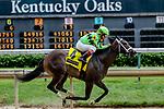 May 3, 2019 : Break Even, #4, ridden by jockey Shaun Bridgmohan, wins the Eight Bells on Kentucky Oaks Day at Churchill Downs on May 3, 2019 in Louisville, Kentucky. Mary Meek/Eclipse Sportswire/CSM