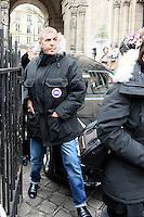 Samy Naceri - Obseques de Michele Morgan - Service religieux en l'Èglise Saint-Pierre de Neuilly-sur-Seine le 23 decembre 2016