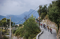 Danish National Champion Kasper Asgreen (DEN/Deceuninck Quick Step) leading the peloton. <br /> <br /> 107th Tour de France 2020 (2.UWT)<br /> (the 'postponed edition' held in september)<br /> Stage 1 from Nice to Nice 156km<br /> ©kramon