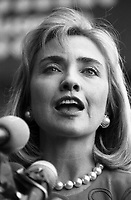 Hillary Clinton speaking at the Boston Children's Museum September 2, 1992