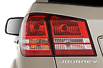 Tail light close up detail view of a 2009 Dodge journey rt