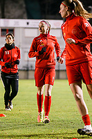 Magali Dinon (6) of Woluwe warms up before a female soccer game between FC Femina White Star Woluwe and Club Brugge YLA on the eleventh matchday of the 2020 - 2021 season of Belgian Scooore Womens Super League , Friday 22 January 2021  in Woluwe , Belgium . PHOTO SPORTPIX.BE | SPP | SEVIL OKTEM