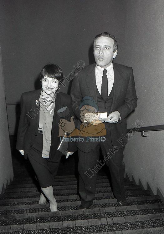ADRIANA ASTI CON IL MARITO GIORGIO FERRARA<br /> TEATRO ELISEO ROMA 1979