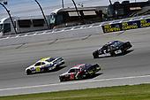 #99: Tommy Joe Martins, B.J. McLeod Motorsports, Toyota Supra Diamond Gusset Jeans, #9: Noah Gragson, JR Motorsports, Chevrolet Camaro Switch, and #5: Matt Mills, B.J. McLeod Motorsports, Chevrolet Camaro J.F. Electric