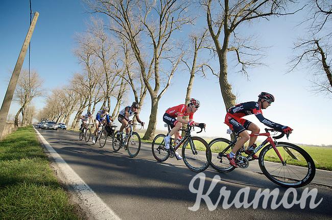 leaders on the way to Vladslo<br /> <br /> 3 Days of West-Flanders<br /> stage 2: Nieuwpoort - Ichtegem 186km