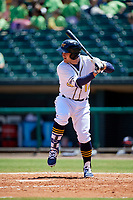 Montgomery Biscuits designated hitter Nick Ciuffo (14) at bat during a game against the Mississippi Braves on April 25, 2017 at Montgomery Riverwalk Stadium in Montgomery, Alabama.  Mississippi defeated Montgomery 3-2.  (Mike Janes/Four Seam Images)