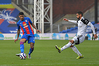 Patrick van Aanholt of Crystal Palace and Ruben Loftus-Cheek of Fulham in action during the Premier League behind closed doors match between Crystal Palace and Fulham at Selhurst Park, London, England on 28 February 2021. Photo by Vince Mignott / PRiME Media Images.