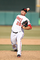 Cole Kimball retired the side in order to record the save for the Scottsdale Scorpions, who defeated the Peoria Javelinas, 3-2, to win the Arizona Fall League championship at Scottsdale Stadium, Scottsdale, AZ - 11/20/2010.Photo by:  Bill Mitchell/Four Seam Images..